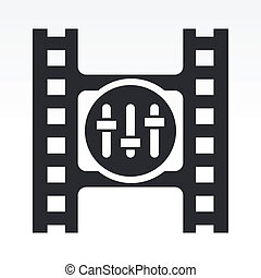 Vector illustration of single isolated mixer icon