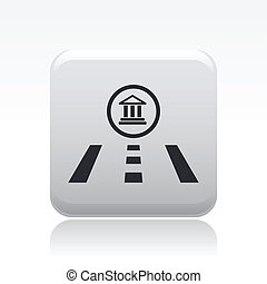Vector illustration of single isolated navigate icon