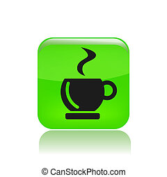 Vector illustration of single isolated coffee icon