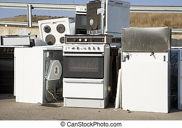 Kitchen Appliance Garbage on a sunny day