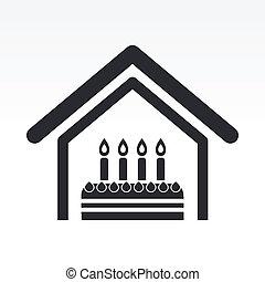 Vector illustration of single isolated birthday icon
