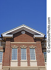 Brick Dormer with Windows - High windows on a brick building...