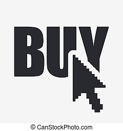 Vector illustration of single isolated buy icon