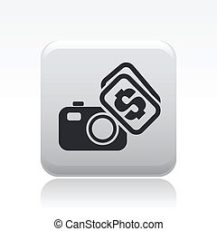Vector illustration of single isolated photo sell icon