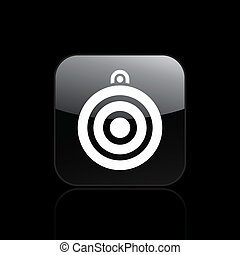 Vector illustration of single isolated target icon