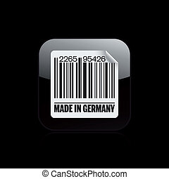 Vector illustration of single isolated Germany barcode icon
