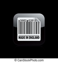 Vector illustration of single isolated England barcode icon