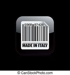 Vector illustration of single isolated Made in Italy icon