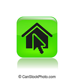 Vector illustration of single isolated house icon