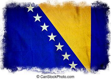 Bosnia and Herzegovina grunge flag