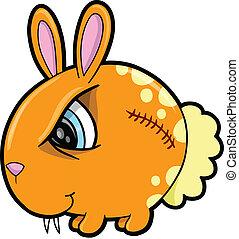 Tough Bunny Rabbit Animal Vector