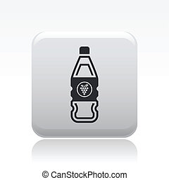 Vector illustration of single isolated wine icon