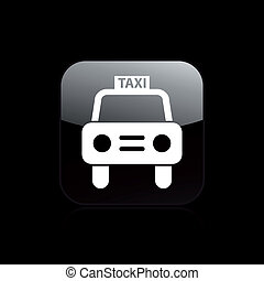 Vector illustration of single isolated taxi icon