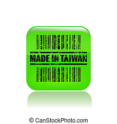 Vector illustration of single isolated made in Taiwan icon