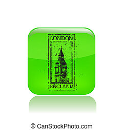 Vector illustration of single isolated London icon