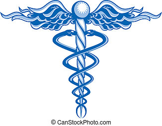 New Age Caduceus - An abstract version of a the medine...