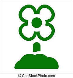 Vector illustration of single isolated flower icon