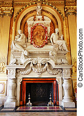 Luxurious marble fireplace - Magnificent marble fireplace...