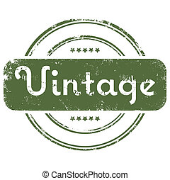 Vector illustration of single isolated grunge stamp