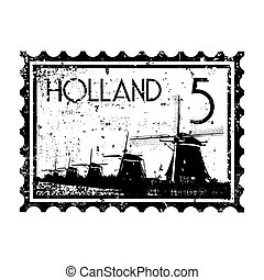 Vector illustration of single isolated Holland icon