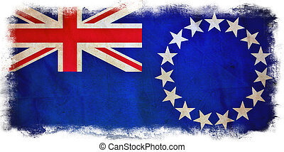 Cook Islands grunge flag