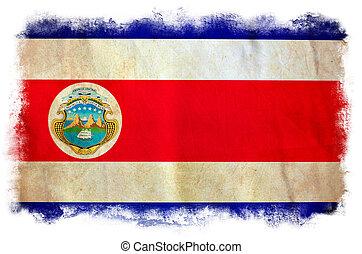 Costa Rica grunge flag