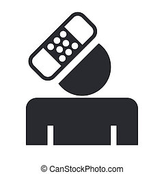 Vector illustration of single isolated accident icon