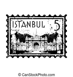 Vector illustration of single isolated Istanbul icon