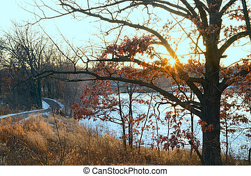 Thompson County Park Lake and Trails - Thompson County Park...