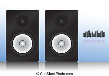 Vector illustration of speakers icon