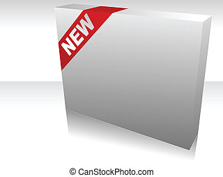 Vector illustration of single isolated new box icon