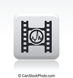 Vector illustration of single isolated player button icon