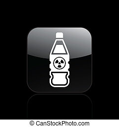 Vector illustration of single isolated nuclear bottle icon
