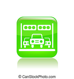 Vector illustration of single isolated race car icon