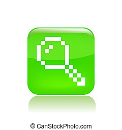 Vector illustration of single isolated pixel icon