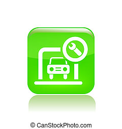 Vector illustration of single isolated car box icon