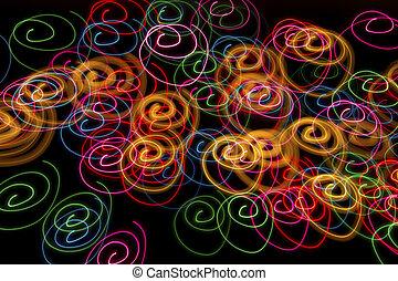 Light spirals background