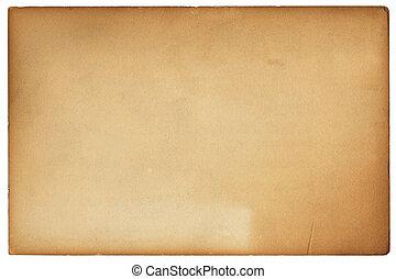 ブラウン, 古い, カード