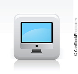 Vector illustration of single isolated computer icon