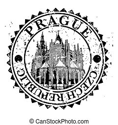 Vector illustration of single isolated Prague icon