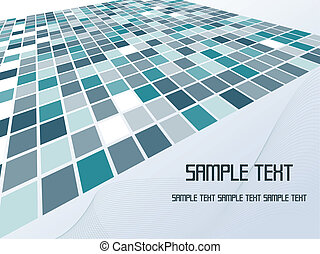 Vector illustration of single isolated abstract background design