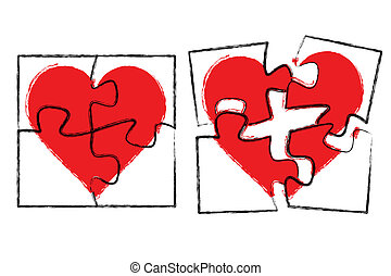 Vector illustration of single isolated love design