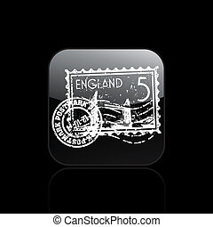 Vector illustration of single isolated England icon