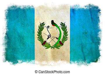guatemala, Grunge, bandera