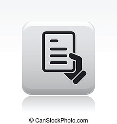 Vector illustration of single isolated document icon