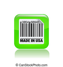 Vector illustration of single isolated USA icon