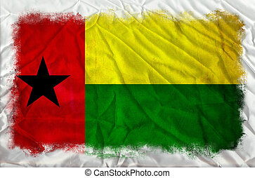 Guinea Bissau grunge flag