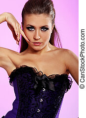 Sexy girl in corset
