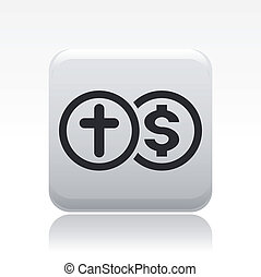 Vector illustration of single isolated insurance icon
