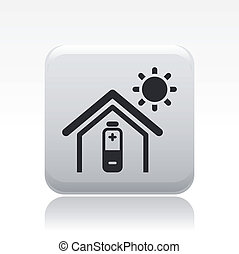 Vector illustration of single isolated bioenergy home icon